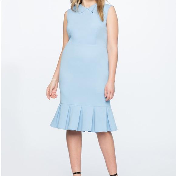 Eloquii Dresses & Skirts - Eloquii Pleated Neckline Sheath Dress NWT Size 14
